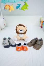 3 pares de sapatos para bebê