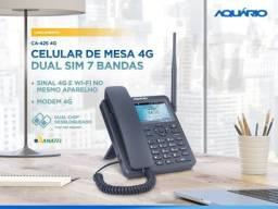 Oferta! Celular de Mesa 4G LTE 3G com Wi-Fi Novo - Entrega gratis
