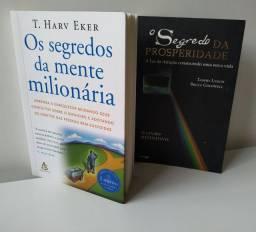 Título do anúncio: Os segredos da mente milionária e O segredo da prosperidade semi novos