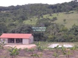 Chácara de 1 alqueire c/ água, p/ lazer 2 km de Gameleira de Goiás