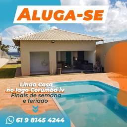 Aluga-se Casa com piscina no lago Corumbá IV