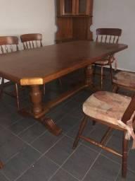 Mesa Madeira Maciça c/ 6 cadeiras