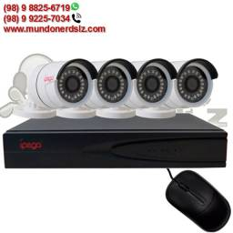 Kit Câmeras de Segurança 5 em 1 DVR 4 Canais 1080P Ípega KP-CA234 em São Luís Ma