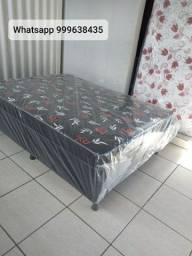 duas opções em cama box casal em promoção