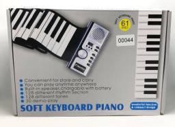 Teclado Flexível 61 Teclas Flexível Portátil Usb Midi Roll-Up Piano Novo na Caixa