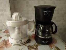 Cafeteira e espremedor