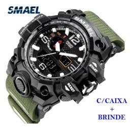 Relógio Militar Smael G Shock Verde Militar a prova da água C/ Caixa