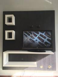 Painel de TV em MDF com nichos