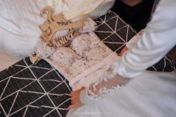 Título do anúncio: Vestido de noiva, véu e vestido para pré wedding
