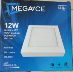 Luminária de LED de Sobrepor 12W Super Branca 6500k