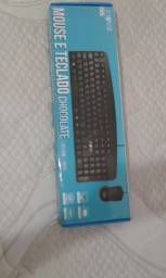 Kit teclado e mause novos