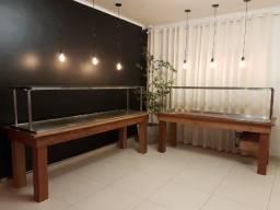 Título do anúncio: Buffet Self Service Mesa Quente e Fria com acabamento em madeira