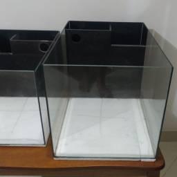 Título do anúncio: Aquários CUBO Nano reef, 42 litros e 27 litros