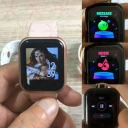 Smartwatch D20 Rosa Modelo novo 2021 coloca foto + 1 pulseira