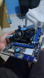 Placa mãe kit Intel i3