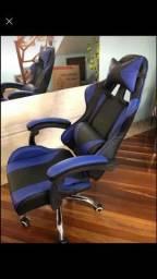 Cadeira Gamer Vermelha e azul - Prizi - Jx-1039b