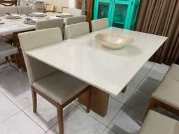 Mesa de 6 lugares completa resistente de madeira maciça