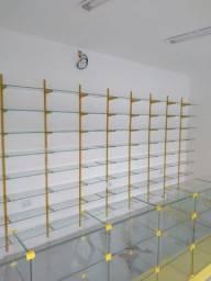 balcao de vidro temperado pronta entrega farmácias, comércios em geral