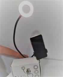 Ring Light Suporte De Mesa Para Selfie Com Luminária Led