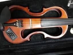 Violino Elétrico 4/4 Evk 744 C/ Case Eagle