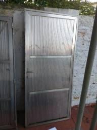 Portão Garagem e Social em Alumínio Lambri