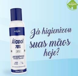 Álcool Aerossol 150ml OU Espuma Antisséptica Higienizadora 150ml