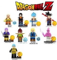 """Lote 9 Legos Personagens Dragon Ball """"Compatível com Lego"""""""