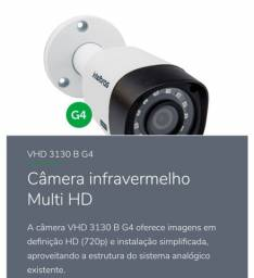 KIT COM 4 CÂMERAS VHD 3130 B G4 - Câmera infravermelho Multi HD