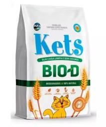 Areia Sanitária para Gatos Kets Bio-Degradável.