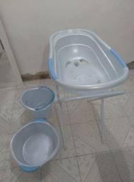 Kit banho suporte banheira balde e  bacia