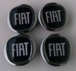 Título do anúncio: Jogo calotas centrais rodas originais Fiat