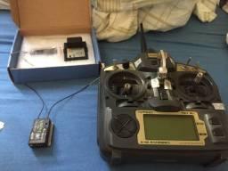 Rádio aeromodelo turnigy 9x com 2 receptores