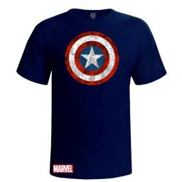 Camiseta Camisa Capitão América Escudo Marvel