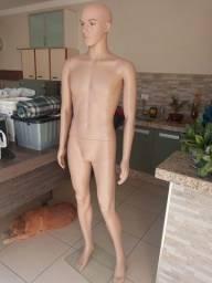Manequim masculino de resina sem uso olho vidro