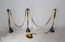 10 metros de corrente com 3 bastões ( novos ) oba ( corrente de plástico )