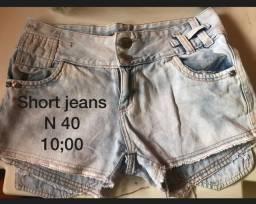 Título do anúncio: Short jeans 10,00 cada