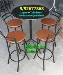 Ótimos bancos/   mesas bistrô  / mesas com  cadeiras  a partir