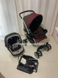 Título do anúncio: Carrinho e bebê conforto burigotto + base veicular