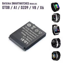 Bateria relogio smartwatch DZ09, QW09, W8, A1, V8, X6, GT08