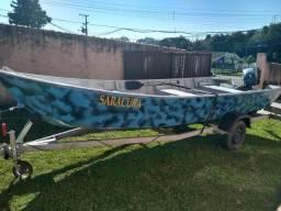 Barco com carreta R$9000,00 - 2015