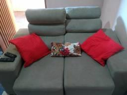 Sofa retrátil e reclinável 2 lugares