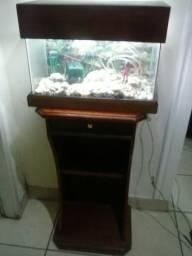 Aquario para peixes com móvel
