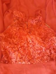 Vestido Xandoca festa vermelho longo tam g