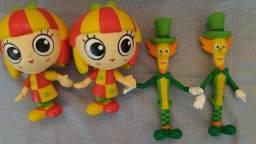 Bonecas Emília e Visconde