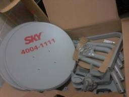 Antena da Sky instalada.