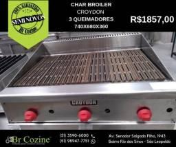 Char Broiler Croydon 3 queimadores semi novo / Br Cozine