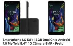 LG K8+ Novo na caixa
