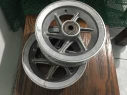 """Aro rodas de aluminio 8"""" polegada carrinho carga - açai - picole - bebidas carroça"""