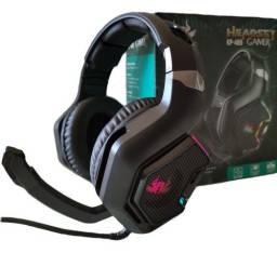 Fone de ouvido headset gamer pc xbox one ps4 com p2 e led
