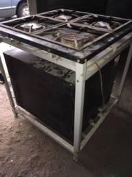 Fogão industrial com forno baixa pressão Venax 4 queimadores